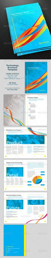 Nursing School Hospital Brochure Template Design by StockLayouts - technology brochure template
