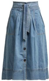 Deja tie-front denim skirt | Sea | MATCHESFASHION US