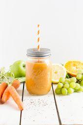 Smoothie mit Möhren Apfel & Orange // Smoothie mit Möhren Apfel & Orange   – Can I buy you a drink?