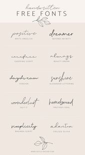 Handwritten free fonts | post by Skyla Design #fon…