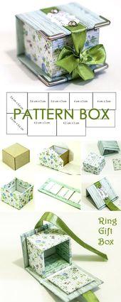 Proyecto de bricolaje sobre cómo crear una caja de regalo de anillo www.free-tutorial …