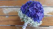 Brautstrauß aus Hortensien und Gypsophila, Floristik   – Bouquets – Kytice – Blumensträuße