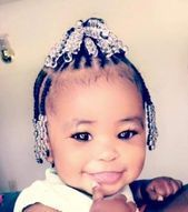 Toddler braided hairstyles with beads #naturalhairstyles #beads #braided #hair