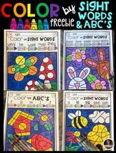 Frühlingsfarbe nach Codeanblick-Wörtern, Wortfamilien und ABCs (Freebie) – Teach sight words