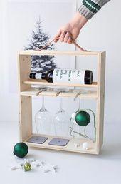 Geschenkideen für Männer: DIY Weinregal