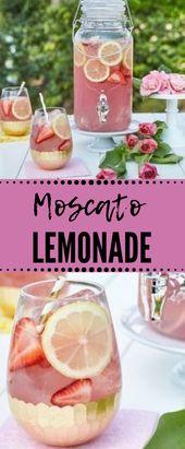 Moscato Lemonade #drink #lemonade #sangria #cockta…
