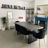 Heather Dining Chair, Velvet Padded, Black Leg Color: Copper Leg Cult FurnitureCult Furniture