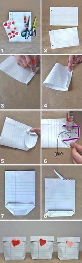 Falten einer Tasche aus einem Blatt Papier – Anleitung   – Geschenke für andere