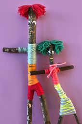Make your own stick family. For lots of fun kids craft activity ideas visit the …