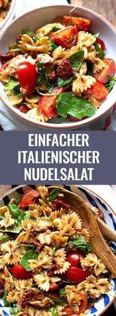 Salade de pâtes italiennes simples à la roquette et aux tomates – carrousel
