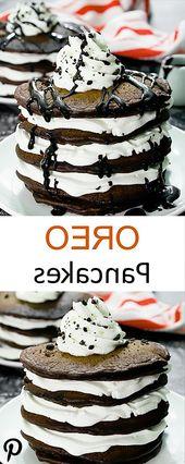 #Oreo Pfannkuchen. #Schokolade #Kekse #und #Creme