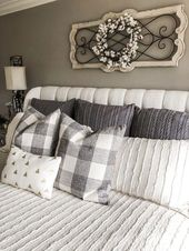 99 Awesome Bedroom Decor Ideas With Farmhouse Style   – Master Bedroom