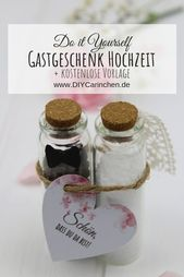 DIY – Gastgeschenk Pfeffer und Salz für die Hochzeit einfach selber machen …   – Hochzeit: Gastgeschenke zur Hochzeit, Hochzeitsspiele und Vorbereitungen