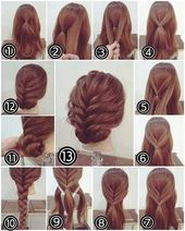 Simple party hairstyles for long hair tutorials step by step 2018