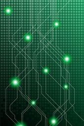 Minimalistic Technology Lines Hd Background