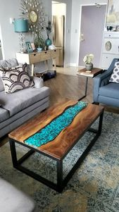 Live Edge Coffee Tables | Live Edge Solid Wood | Chic Live Edge Coffee Table
