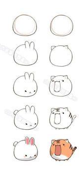 Zeichnung Tiere Zerrbild Anime 66 Ideen  – Animal Drawing