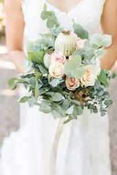 Natürliche Hochzeit im Freien – Ideen für eine natürliche Hochzeit von der Liebesmesse   – Brautstrauss und Hochzeit Blumendeko – Bridal Bouquets