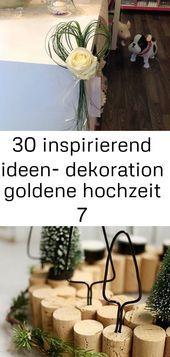 30 Inspirierende Ideen Goldene Hochzeit Der Dekoration 7