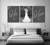 Marriage ceremony vows artwork set, set of three canvas prints, customized canvas print set, wedding ceremony vows and photograph artwork, wedding ceremony vow set, anniversary canvas set