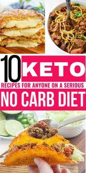 ¡10 recetas ceto para cualquier persona con una dieta seria sin carbohidratos! ceto, dieta ceto, ceto rec …