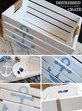 52 DIY Ideas & Tutorials for Nautical Home Decoration
