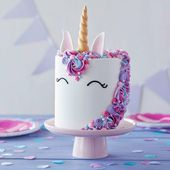 Einhorn Kuchen Fondant machen Sie sich rosa lila schmücken   – Essen