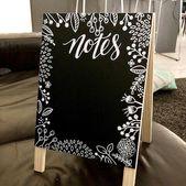 Hey guysTime für ein Werbegeschenk für Kreidekunst! Dieser zweiseitige Tisch A-Frame ist …