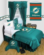 Miami Dolphins Locker Room Bedding Accessories Set Miami Dolphins Nfl Miami Dolphins Dolphins