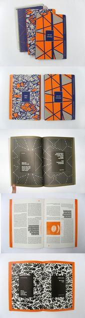 the open book with the black background and white pin stripes is wonderful – Spreads and Layouts
