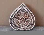 Sweet Heart Stamp Fine Carved Traditional Indian Henna Carved Wood Block Fabric …   – B L O C K – P R I N T – H E N N A