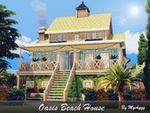 Oasis Beach House by MychQQQ for The Sims 4   – Design Gaming Ideas