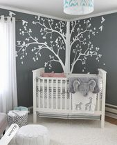 Large tree decal Huge White Tree wall decal Stickers Corner Wall Decals Wall Art Tattoo Wall Mural Decor – 086