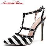 ANMAIRON Basic Super High Thin Heels Moda Mujer Zapatos 2019 Vestido Punta estrecha Bombas de moda Talla 34-43 LY942   – Обувь