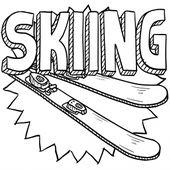 Skiing Coloring Page Kidspressmagazine Com Sports Coloring Pages Coloring Pages Ski Drawing