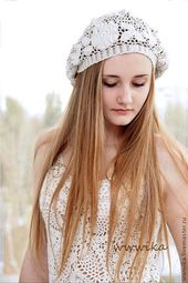 Frauen Hut Sommer Baskenmütze Hut Hand stricken Farbe wählen Frauen Leinen Nat… – Frauen Hut