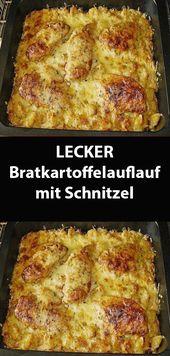 LECKER Bratkartoffelauflauf mit Schnitzel