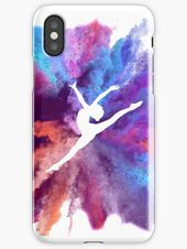 Coque et étui iPhone 'Gymnaste Explosion arc-en-ciel' par Flexiblepeople
