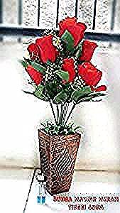 Gambar Bunga Hias Dari Plastik Bunga Mawar Merah Bunga Mawar Plastik Bunga Hias Plastik Bunga Kana Furniture 2393 Kwai A3 In 2020 Backyard Landscaping Rose Plants