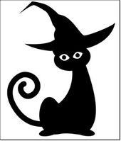 #Schwarz #Schnitzen #Katze #Halloween #Muster #Kürbis #Vorlage