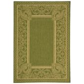 Safavieh Courtyard Natural/Olive 4 ft. x 6 ft. Indoor/Outdoor Area Rug