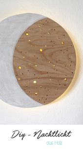 Do it yourself: Nachtlicht aus Holz einfach selbst basteln