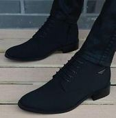 Mens Casual high top pointy chukka dress wedding shoes ankle boots hidden heels – Dress shoes men