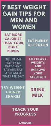 7 Best Weight Gain Tips For Men And Women | Ectomorph Workout Men | Mesomorph women diet | Fa…