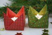 Falten Sie Ihren Teelichthalter aus Papier! Hier ist die Bastelanleitung zum Dekorieren   – Origami