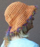 Brimmed crochet hat / orange summer hat / sun hat / handmade summer hat – etsy.com