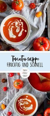 Klassische Tomatensuppe