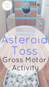 3 Space Themed Asteroid Activities for Toddlers