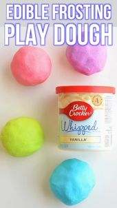 DIY Slime Edible Frosting Play Dough With Only 2 Ingredients!