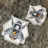 Bee Temporary Tattoo, Geometric Temporary Tattoo, Bee Body Art,  Bee Tattoo, Bee Accessory For Any Occasion